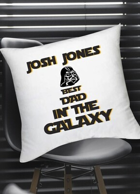 Personalized Best Dad in the Galaxy Scatter Cushion