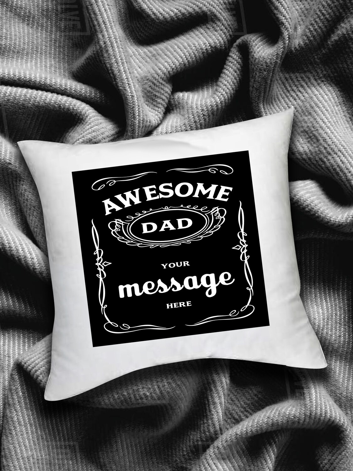 Personalized Whiskey Scatter Cushion