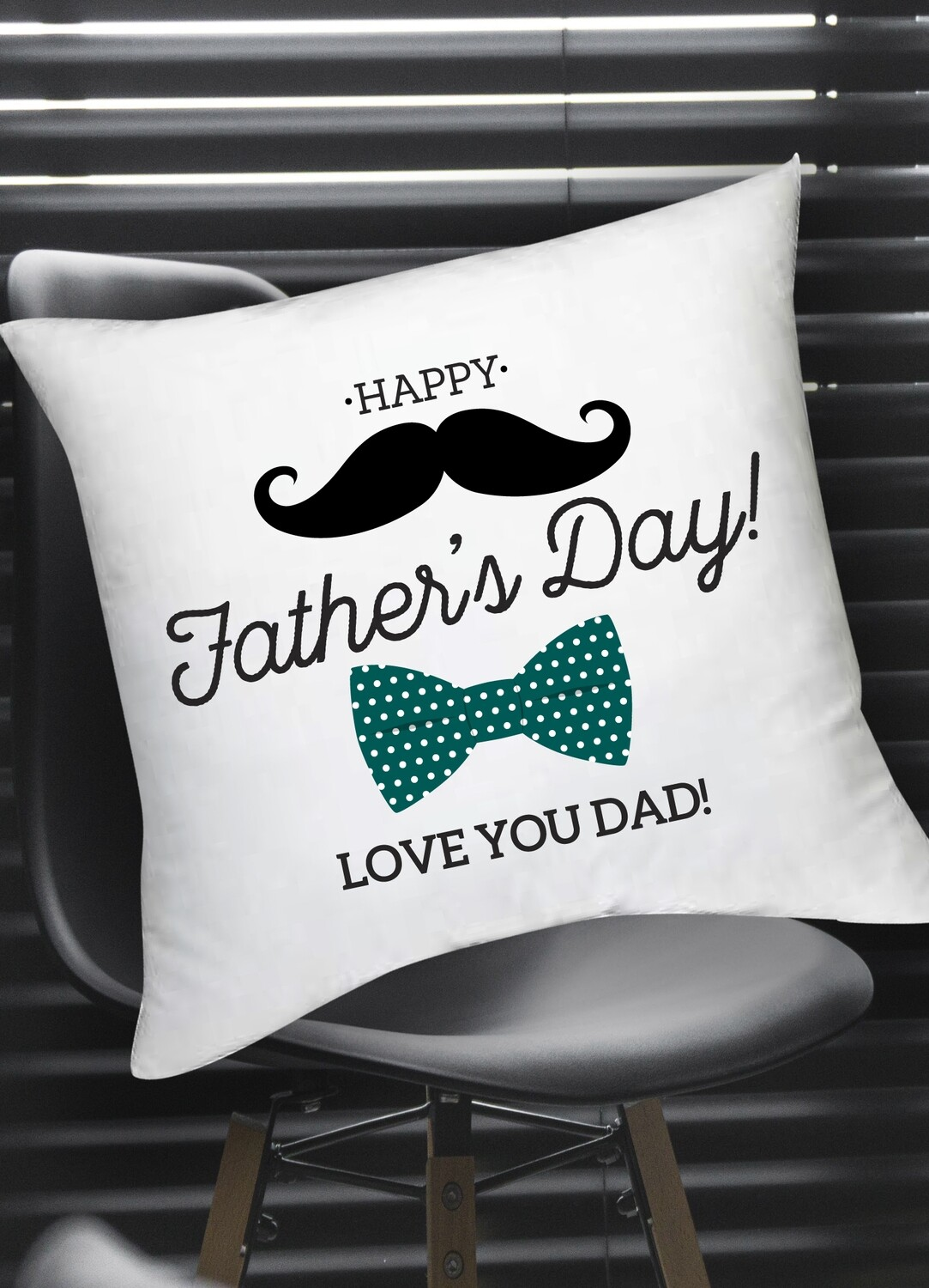 Personalized Bowtie Scatter Cushion