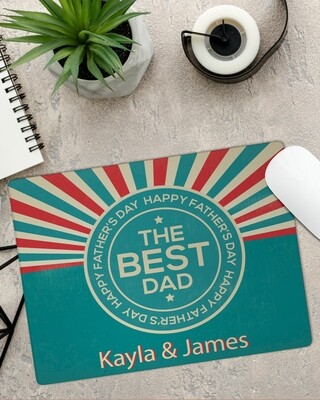 Personalized Best Dad Mouse Pad