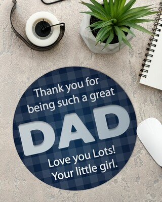 Personalized Dad Mouse Pad