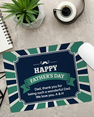 Personalized Father's Day Mouse Pad