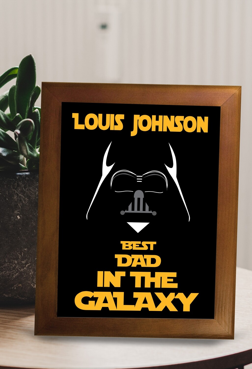 Personalized Best Dad Framed Ceramic Tile