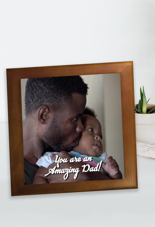 Personalized Amazing Dad Photo Framed Ceramic Tile