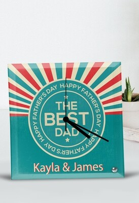 Personalized Best Dad Glass Clock