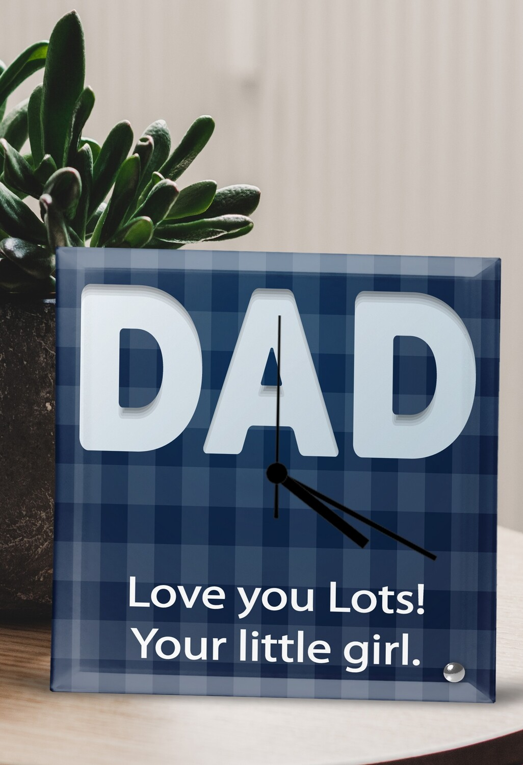 Personalized Dad Glass Clock