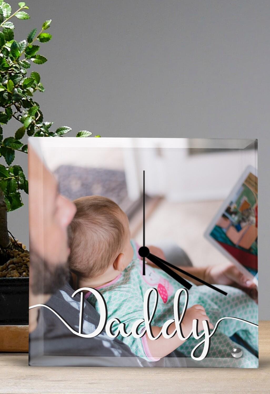 Personalized Daddy Glass Clock