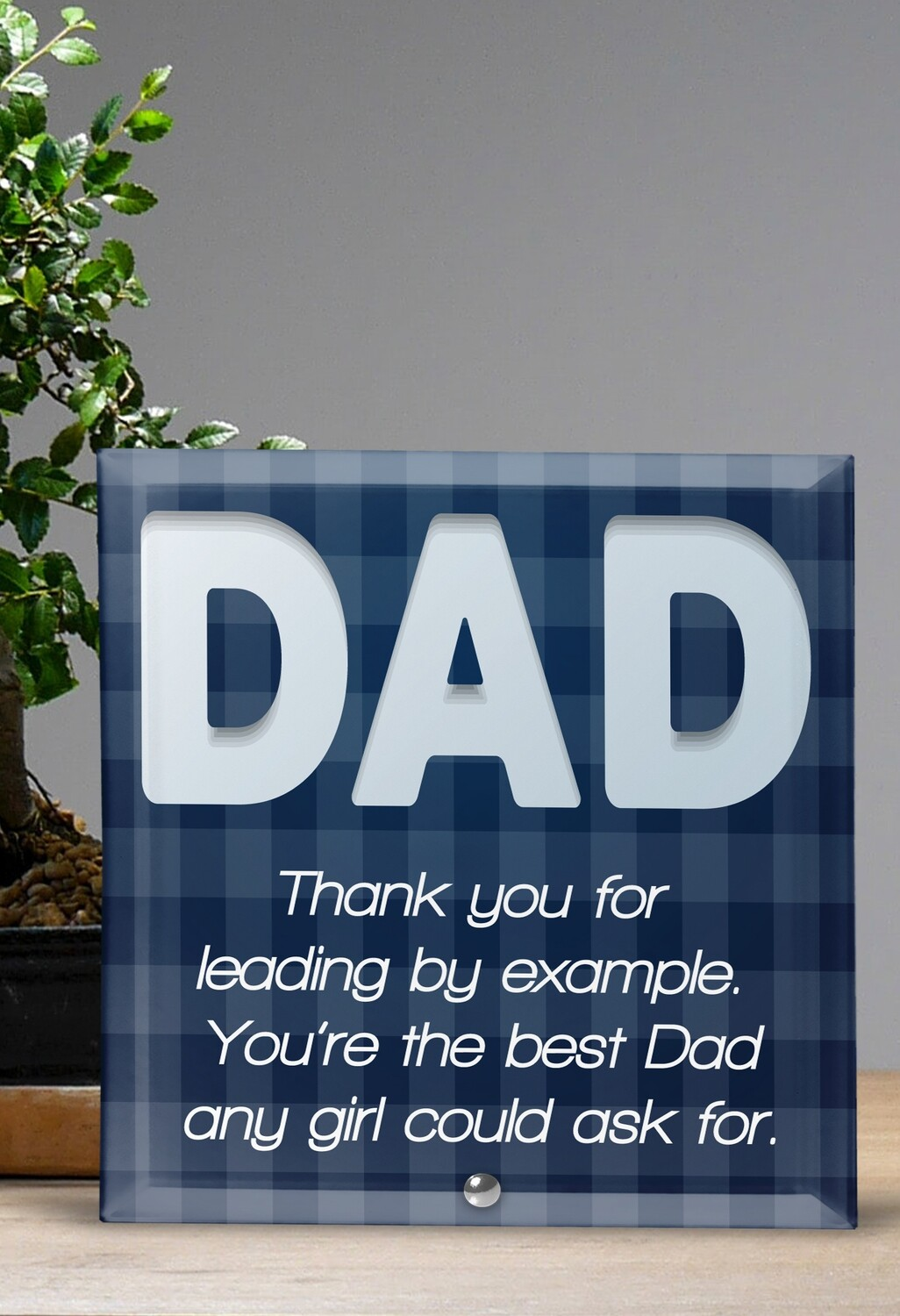 Personalized Dad Glass Tile