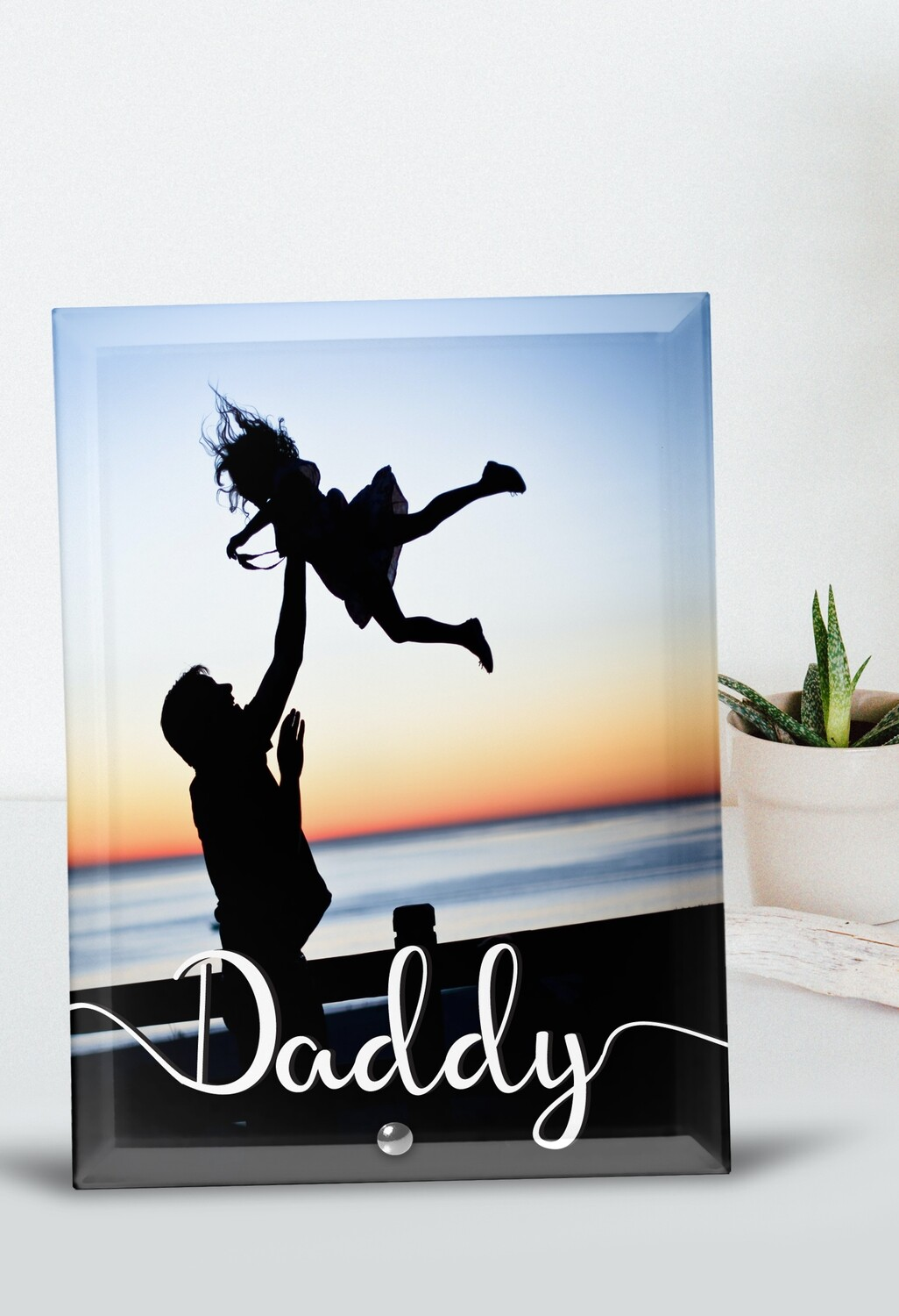 Personalized Daddy Glass Tile