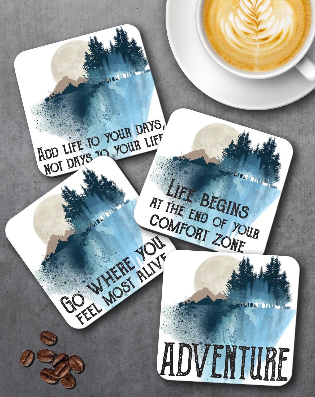 Personalized Adventure Coaster Set  of 4