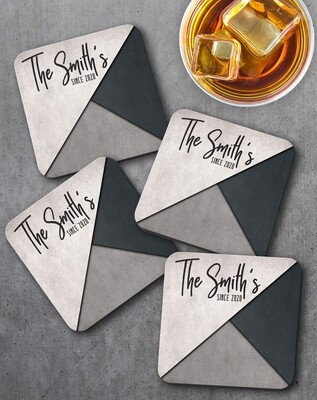 Personalized Modern Family Coaster Set of 4