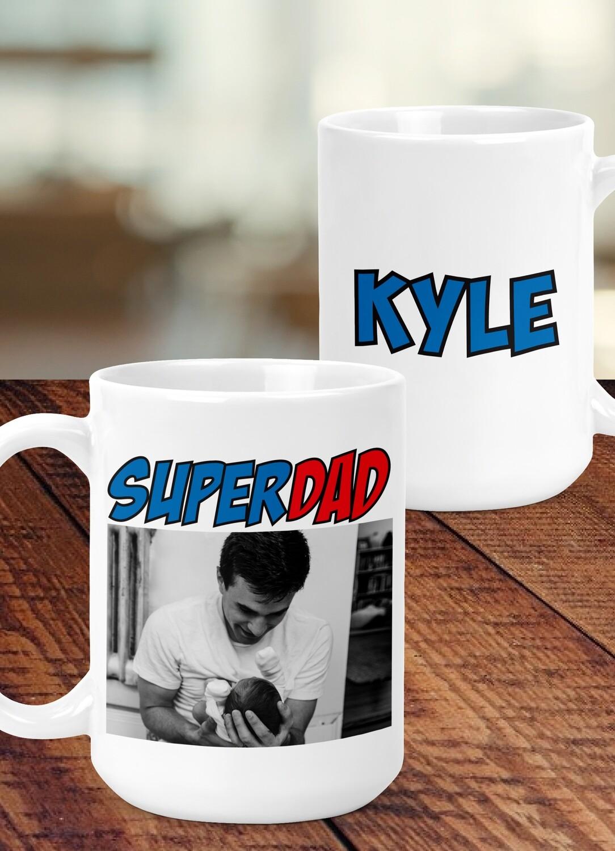 Personalized Super Dad Mug