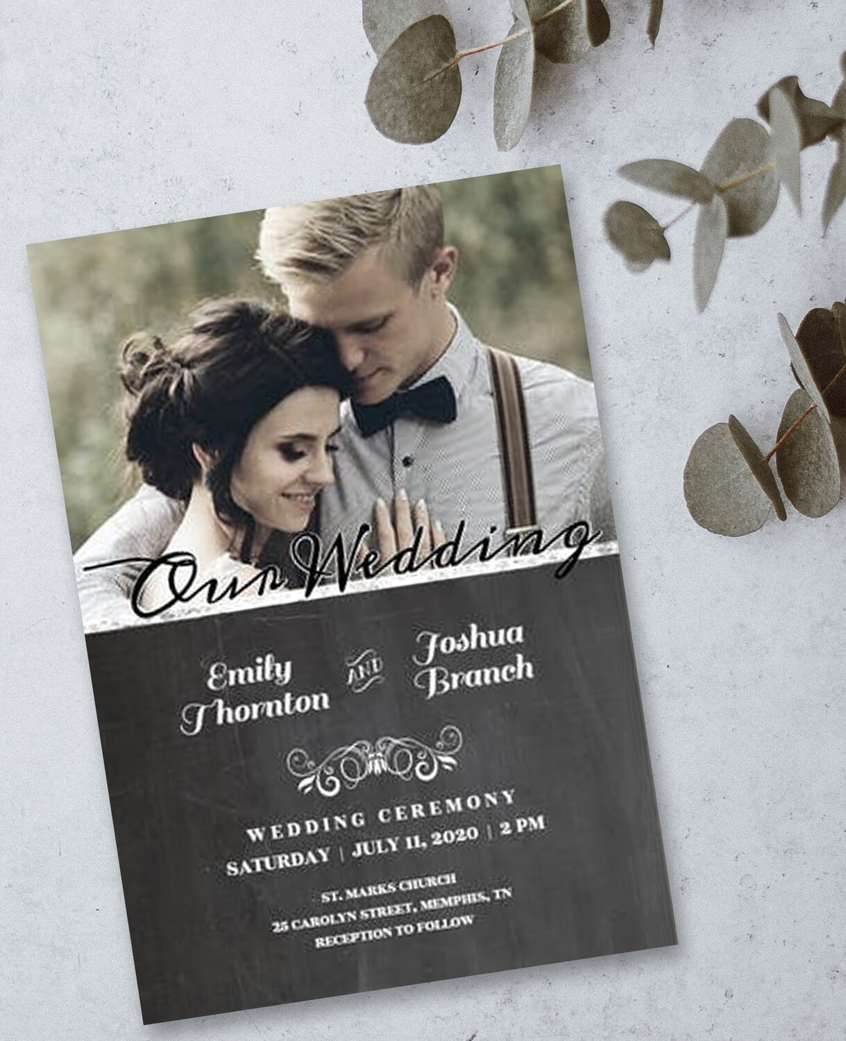 Personalized Photo Wedding Invite & Save The Date