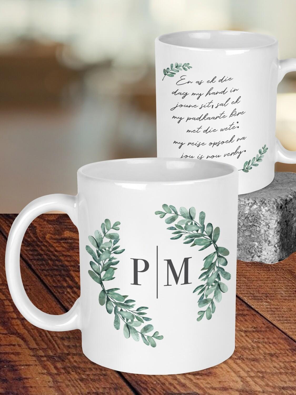 Personalized Eucalyptus Wedding Mug