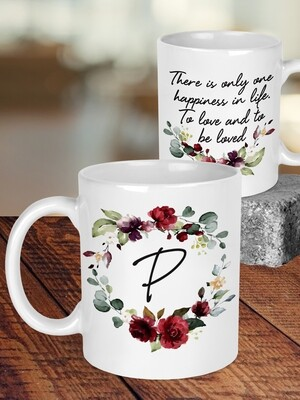 Personalised Floral Wreath Wedding Mug