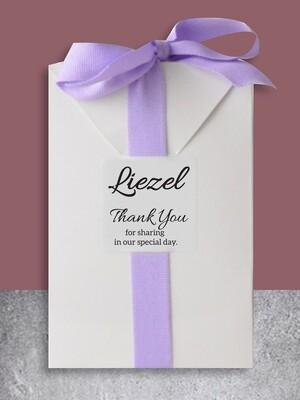 Personalised Bath Salt Wedding Gift