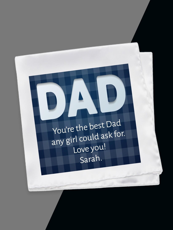 Personalised Blue Dad Hankerchief