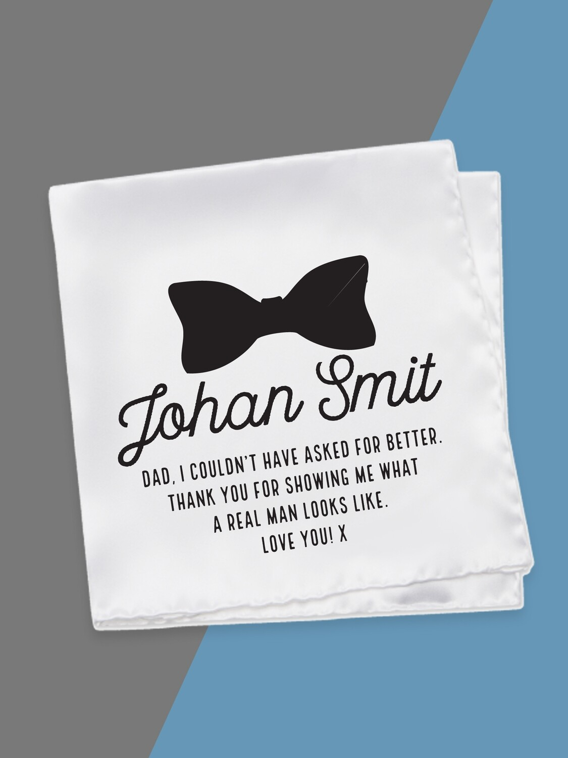 Personalised Bow Tie Hankerchief