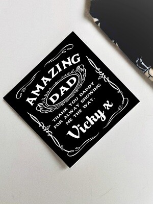 Personalized Amazing Dad Tie Patch