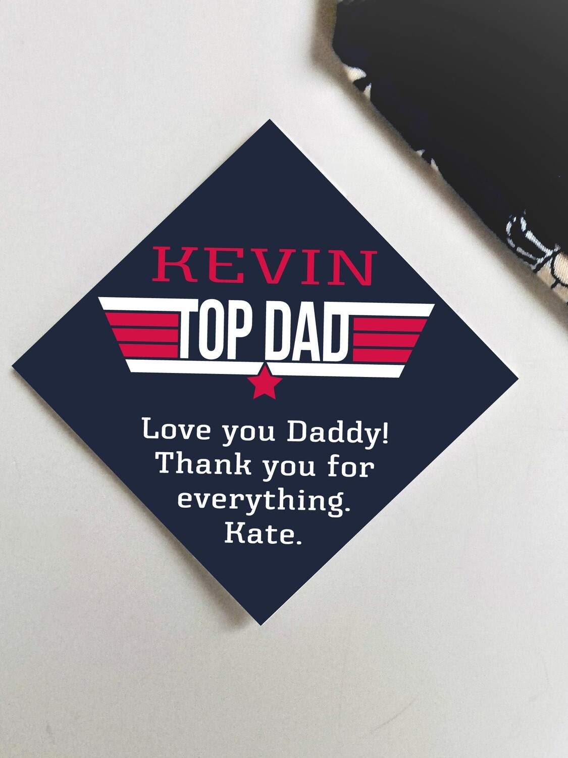 Personalized Top Dad Tie Patch