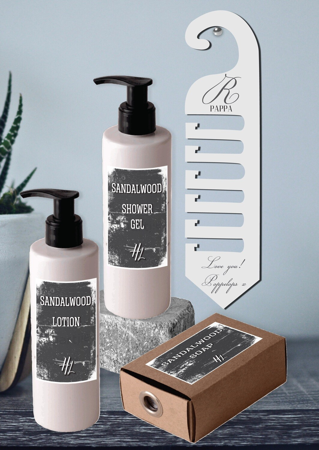 Personalized Classic Tie Hanger & Body Care