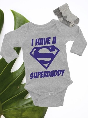 Personalized Superdaddy Baby Onesie