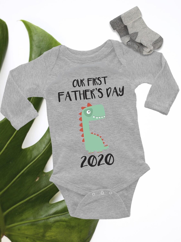 Personalized Dinosaur Baby Onesie