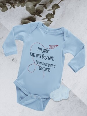 Personalized Father's Day Gift Baby Onesie