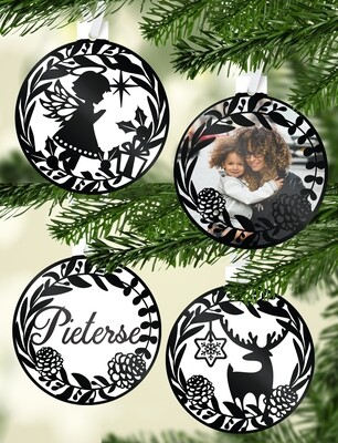 Personalised Silhouette Christmas Ornaments
