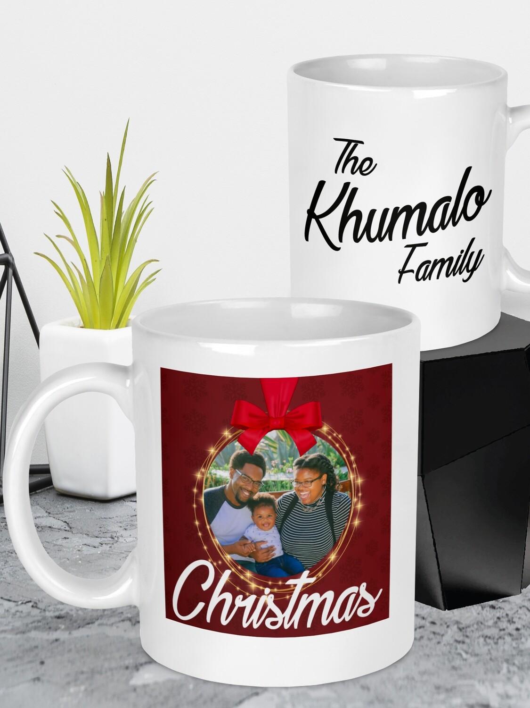 Personalised Christmas Photo Mug
