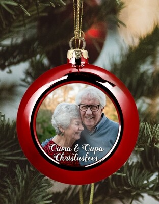 Personalised Grandparents Christmas Bauble
