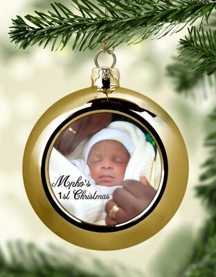Personalised Baby's 1st Christmas Bauble