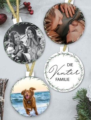 Personalised Photo Christmas Ornaments