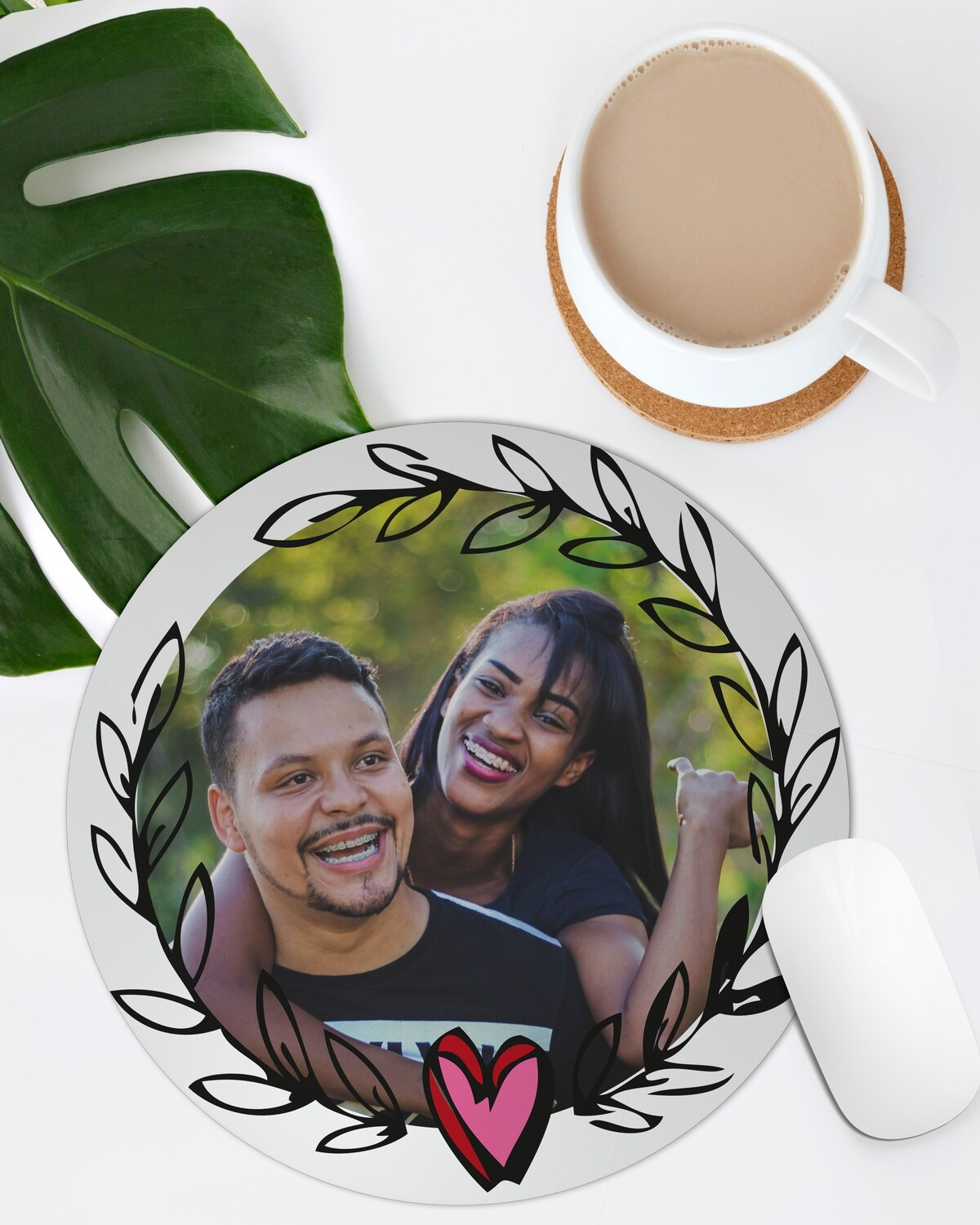 Personalised Wreath Mouse Pad