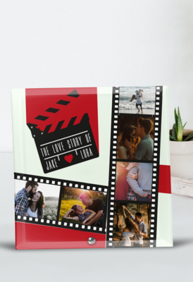 Personalised Movie Glass Tile