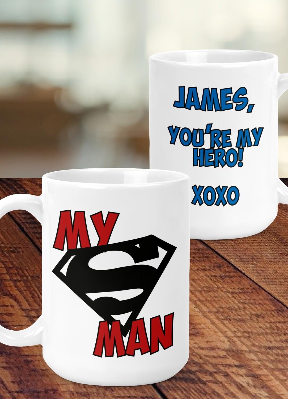 Personalized My Super Man Mug