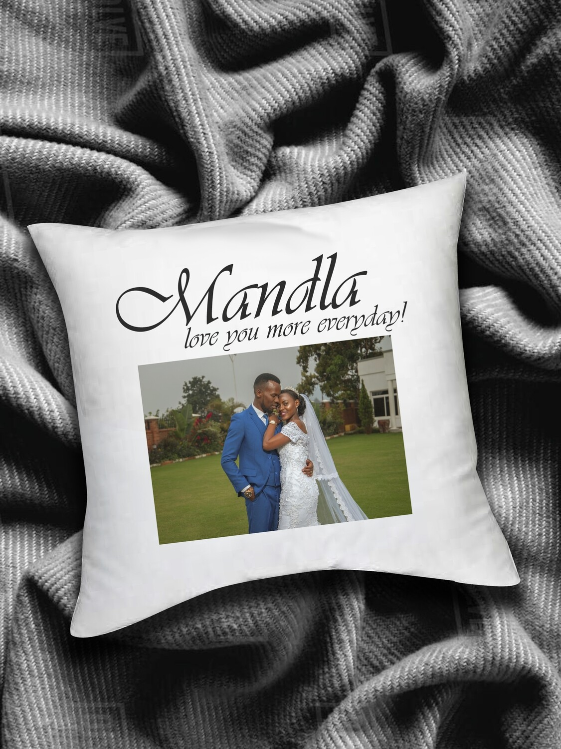 Personalized Romance Photo Scatter Cushion
