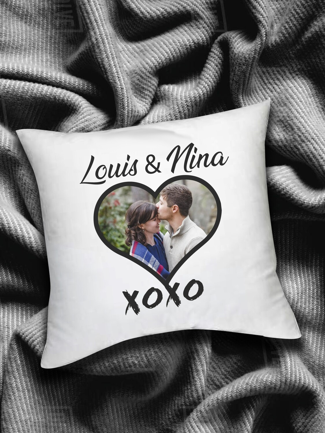 Personalized Xoxo Scatter Cushion