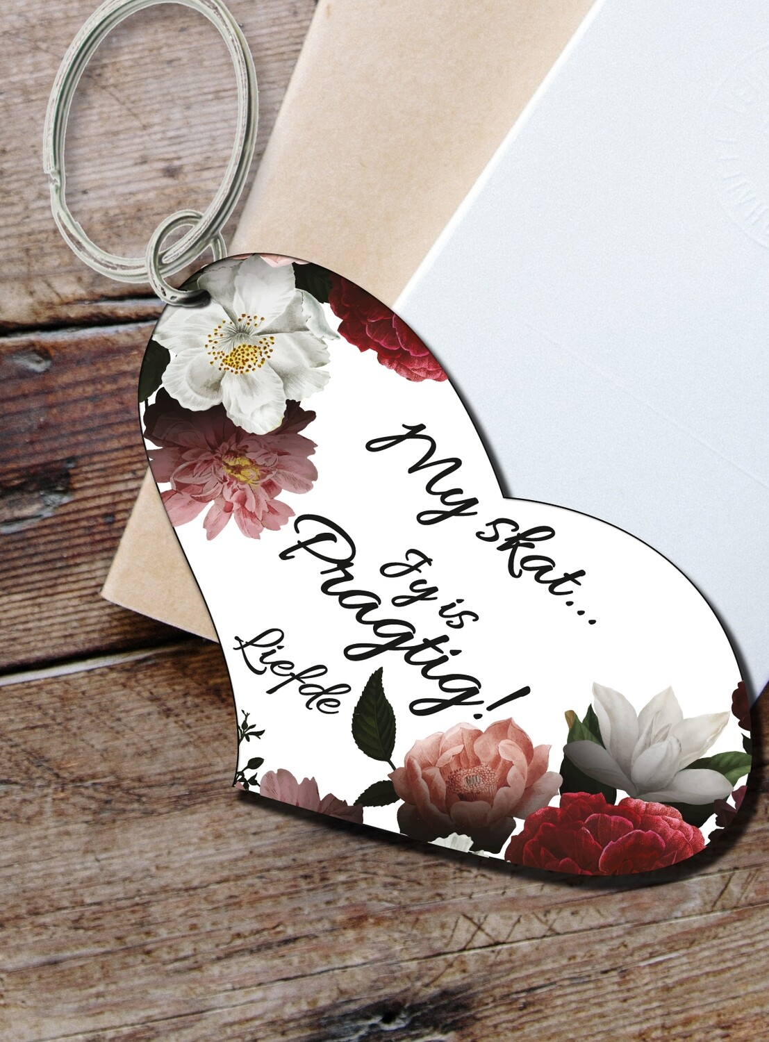 Personalized Floral Keyring