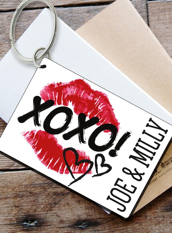 Personalized Xoxo Keyring