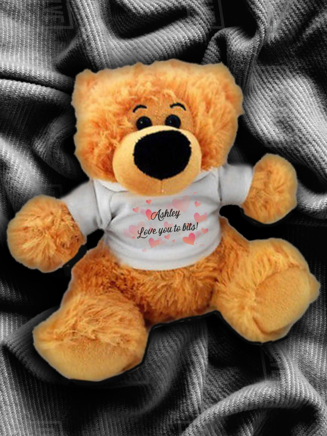 Personalised Hearts Teddy