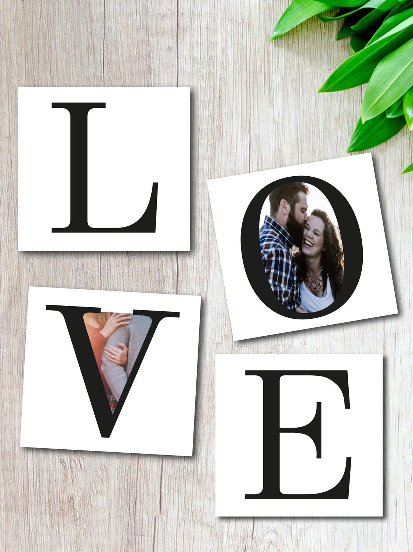 Personalised LOVE Fridge Magnet Set