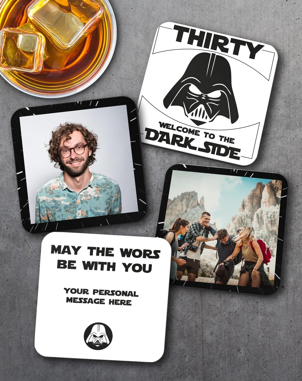 Personalized Dark Side Coaster Set of 4
