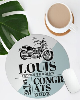 Personalized Motorbike Mouse Pad