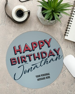 Personalized Birthday Mouse Pad
