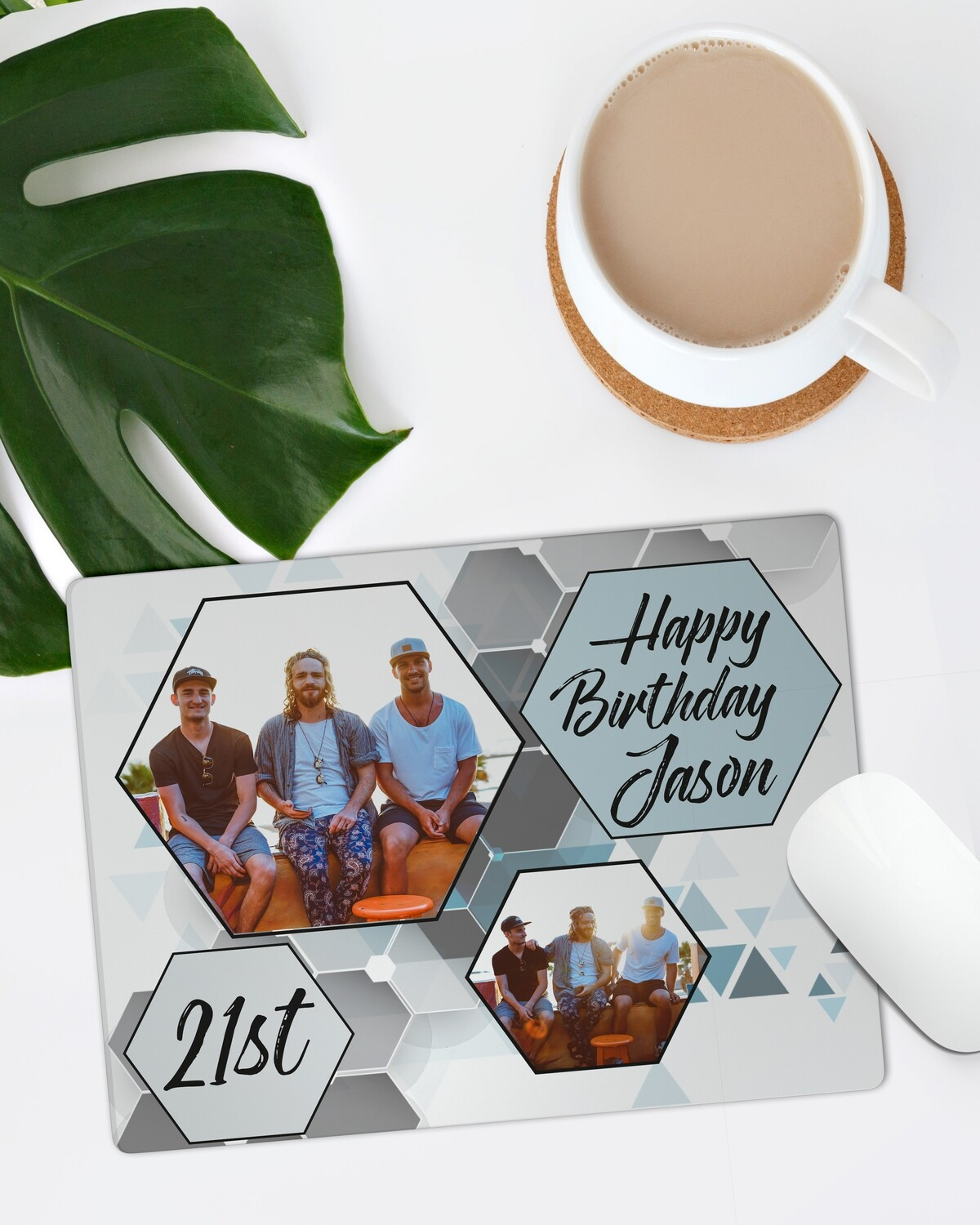 Personalized Hexagon Mouse Pad