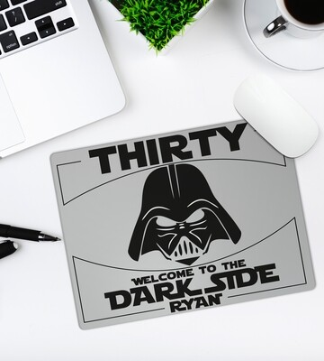 Personalized Dark Side Mouse Pad