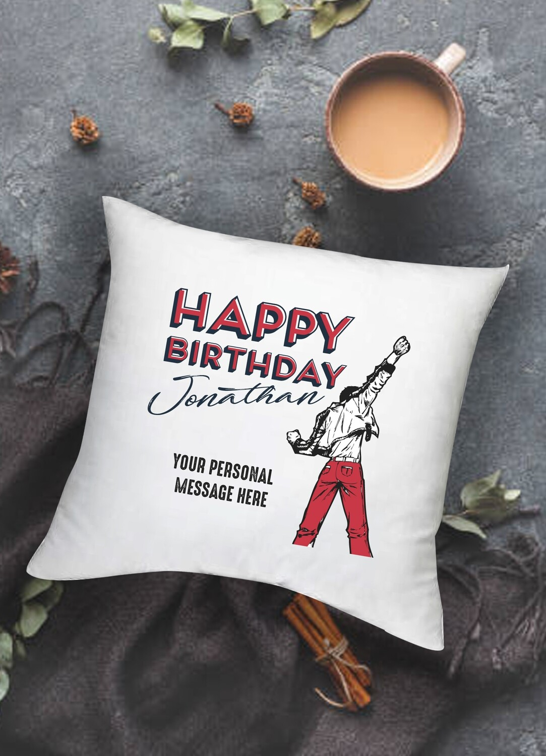 Personalized Birthday Scatter Cushion