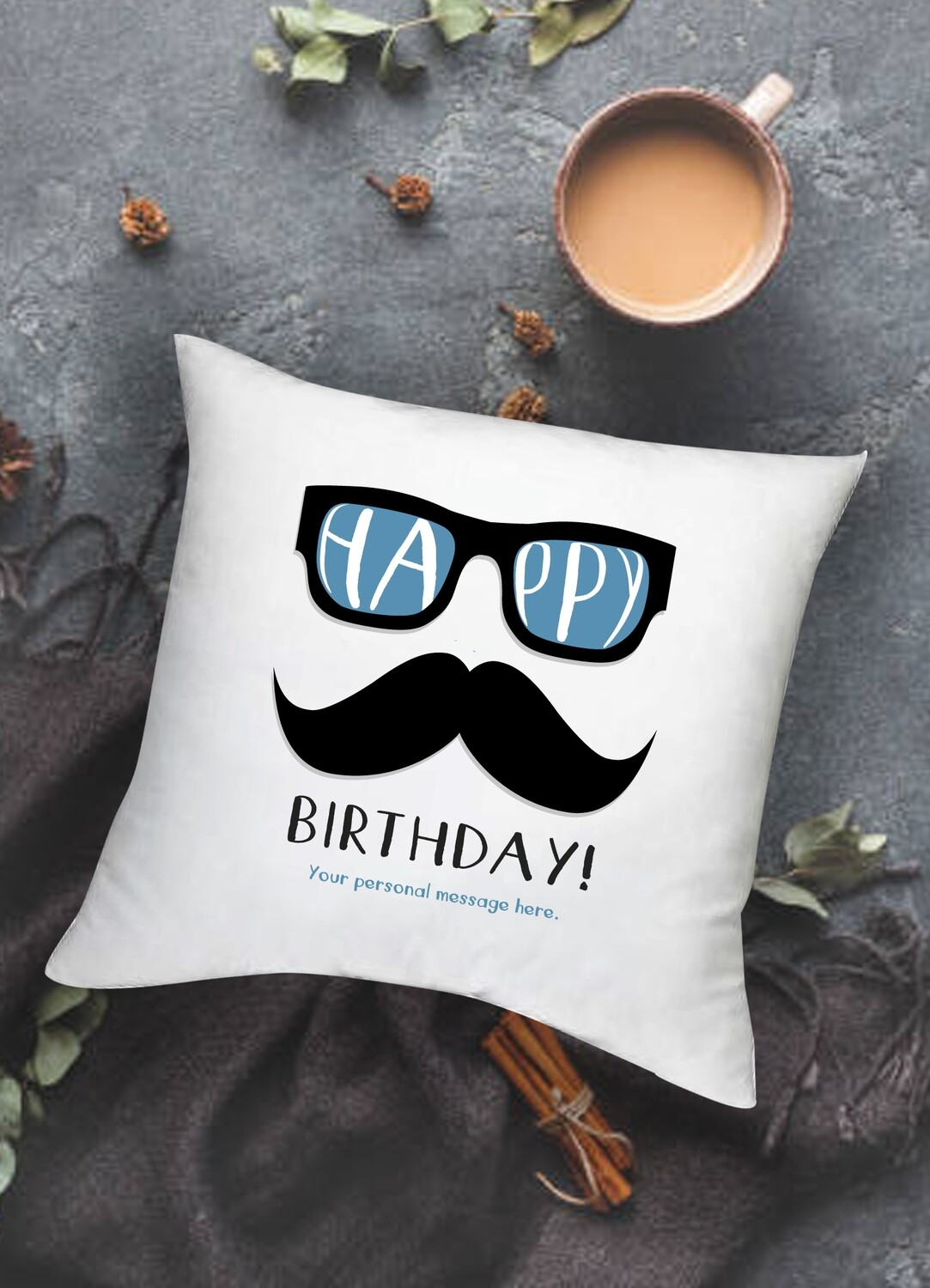 Personalized Moustache Scatter Cushion