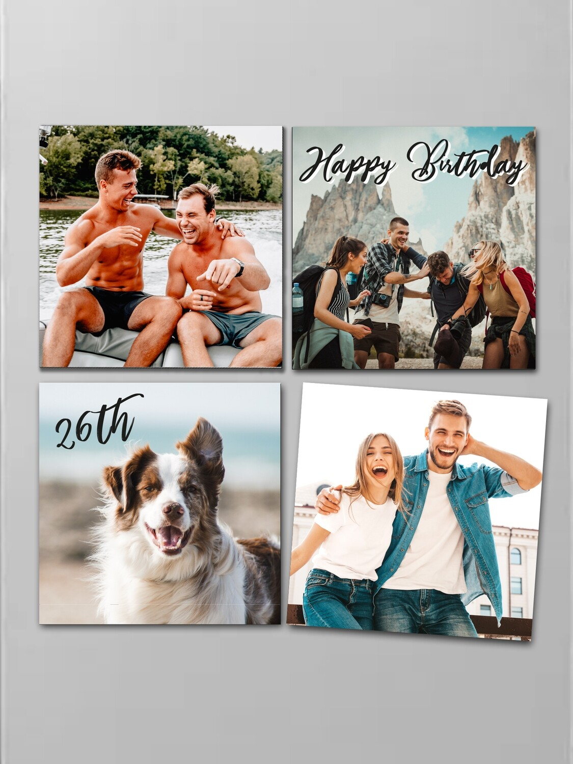 Personalised Photo Fridge Magnet Set
